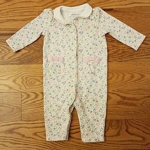 Ralph Lauren Baby Girl Floral Cotton Coverall 3 mo
